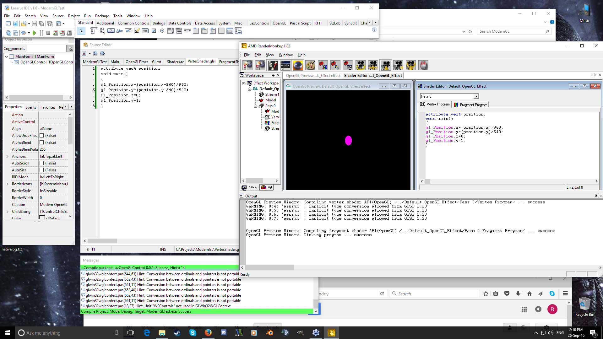 Modern OpenGL with Lazarus | Michell Computing News